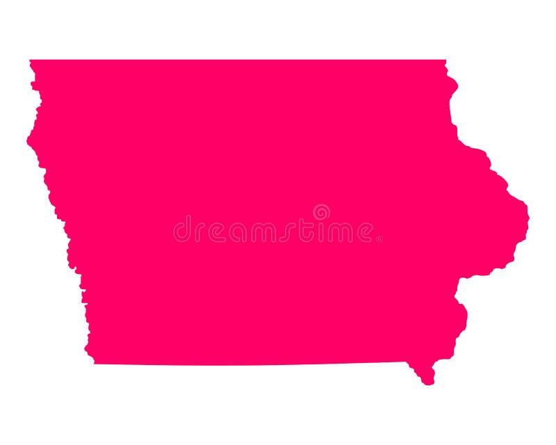 Kaart van Iowa vector illustratie