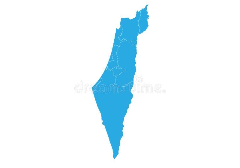 Kaart van Israël E vector illustratie