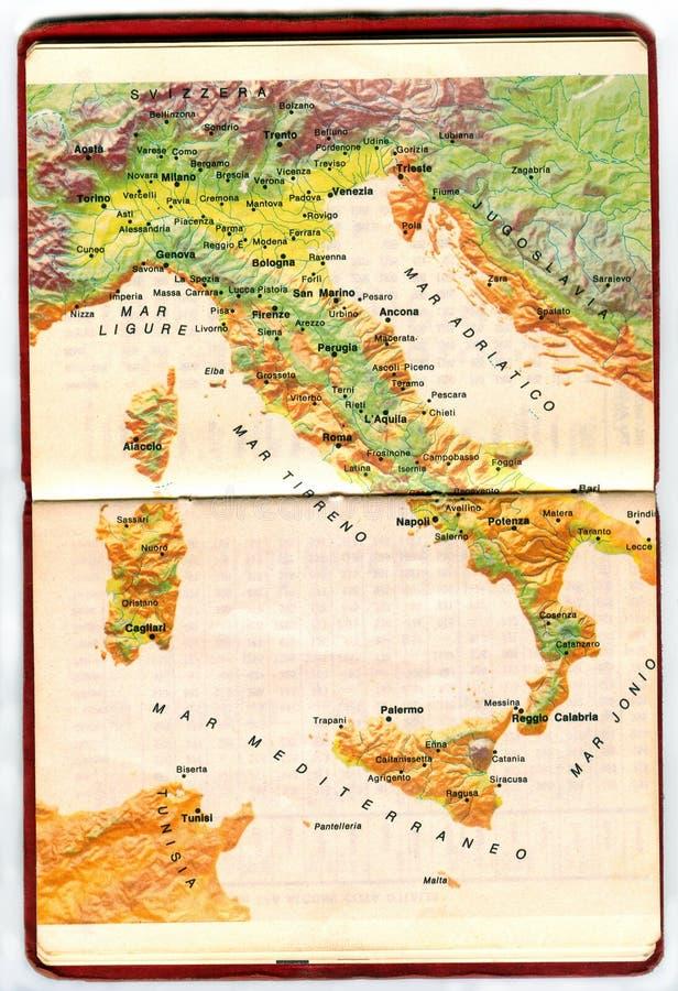 Kaart van Italië stock afbeeldingen