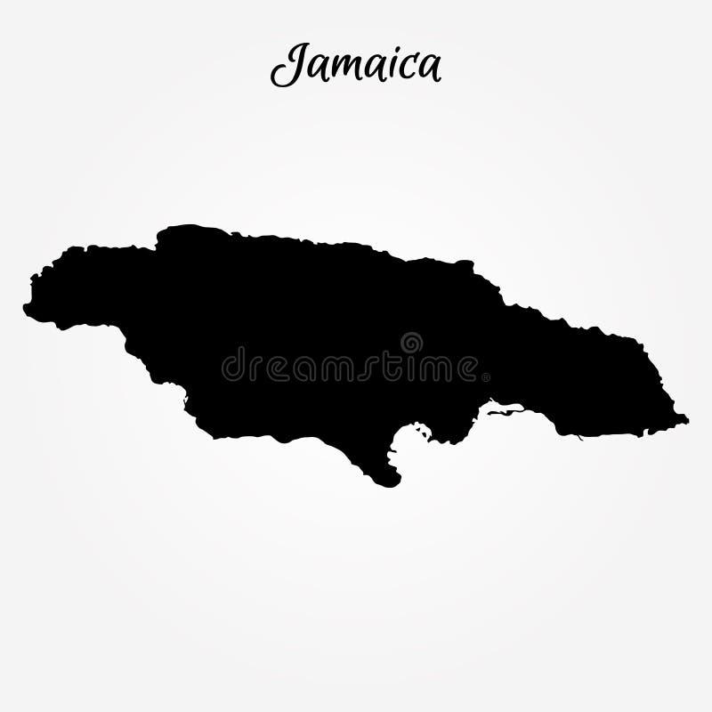 Kaart van Jamaïca vector illustratie