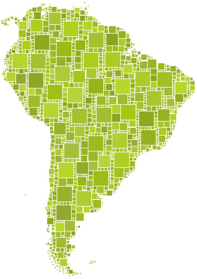 Kaart van Latijns Amerika royalty-vrije illustratie