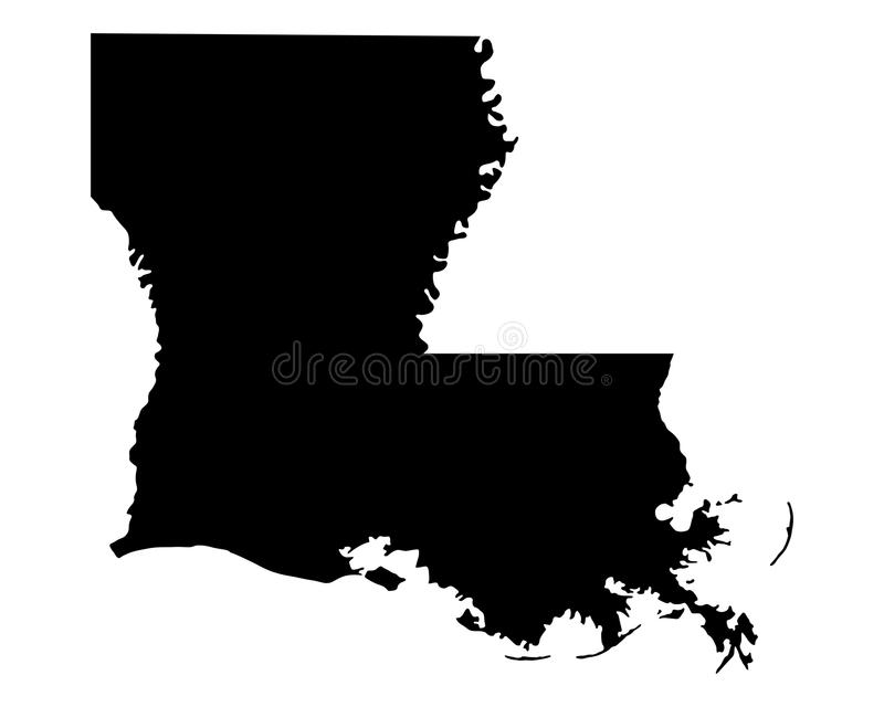 Kaart van Louisiane stock illustratie