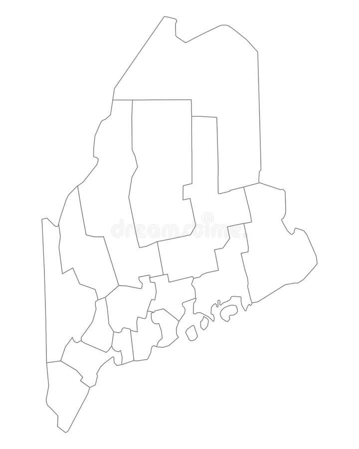 Kaart van Maine vector illustratie