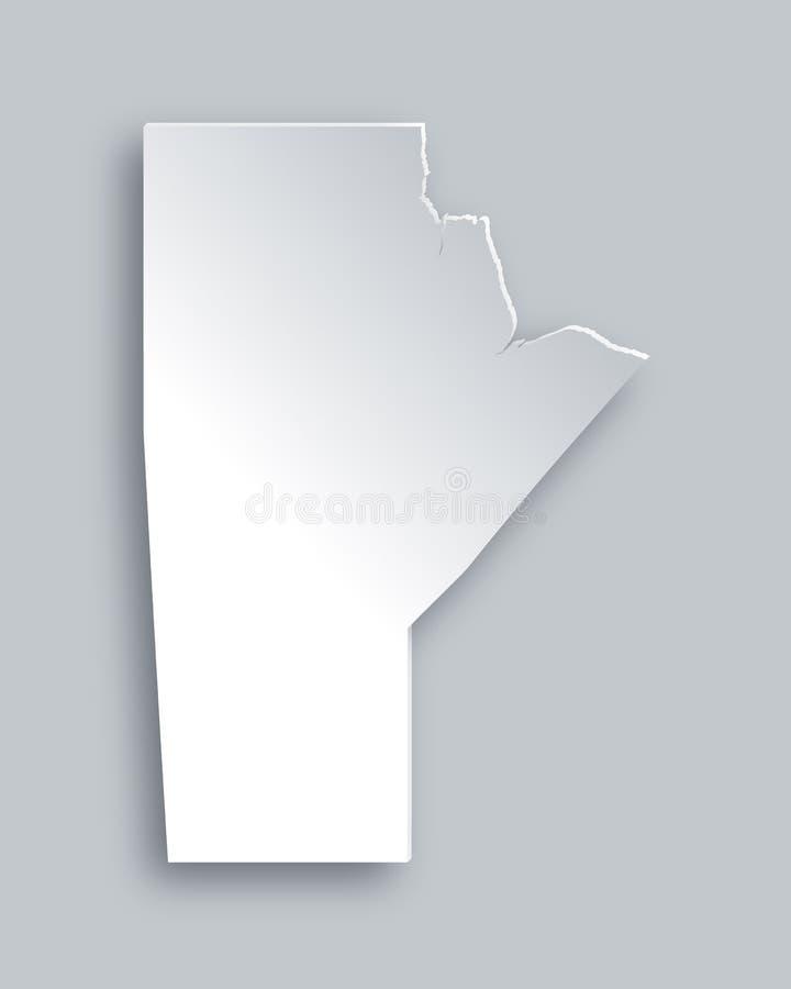 Kaart van Manitoba royalty-vrije illustratie