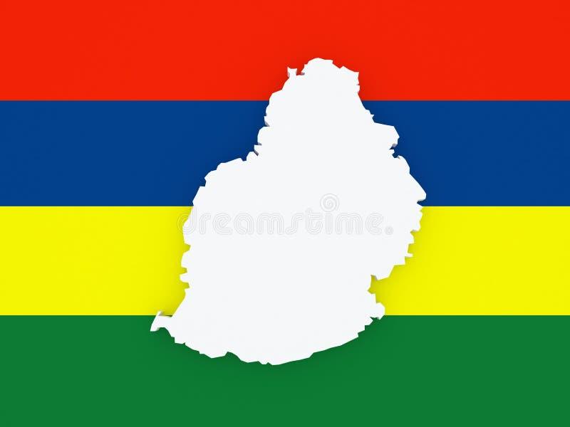 Kaart van Mauritius stock illustratie