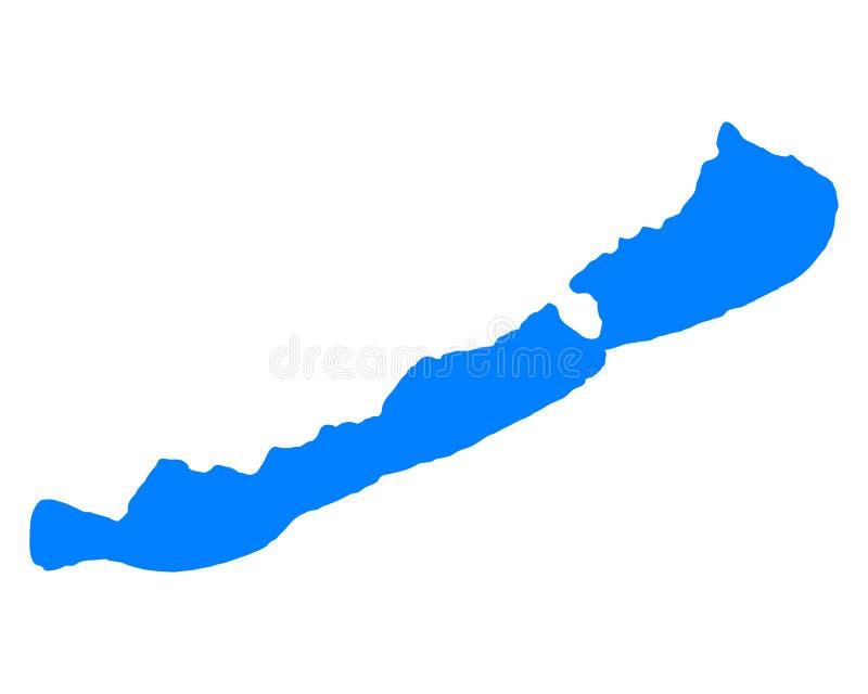 Kaart van Meer Balaton stock illustratie