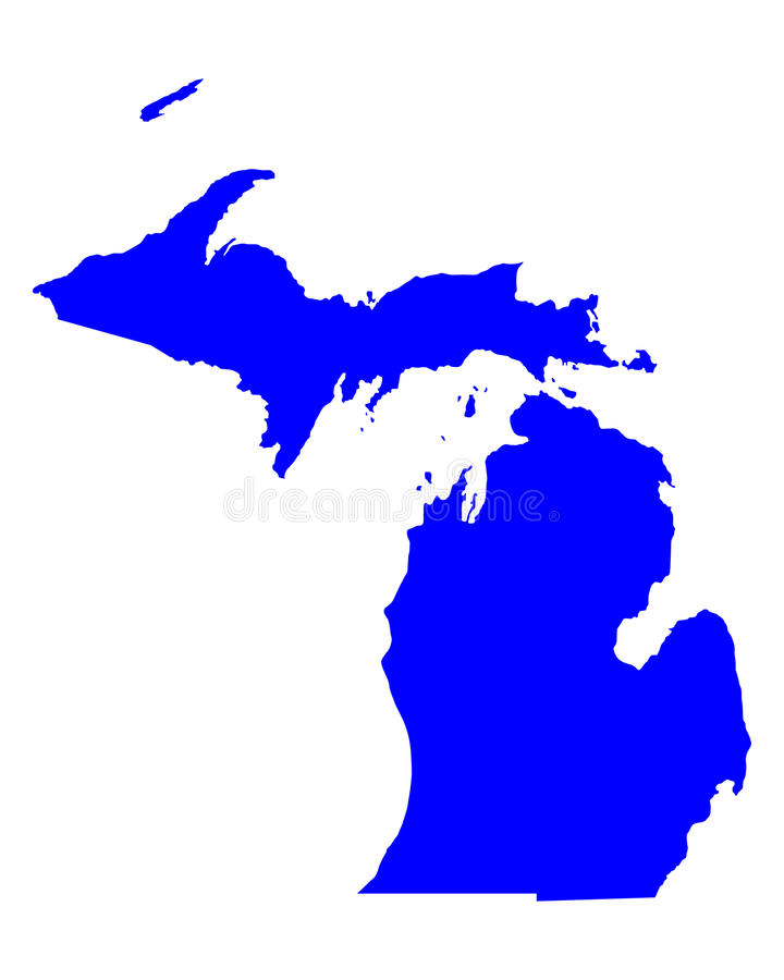Kaart van Michigan stock illustratie