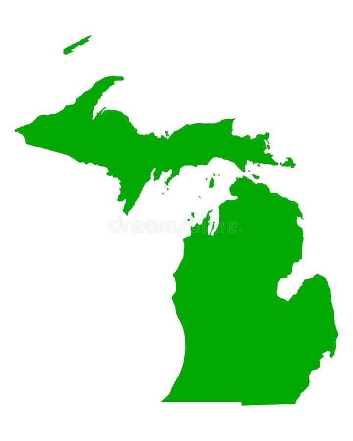 Kaart van Michigan royalty-vrije illustratie