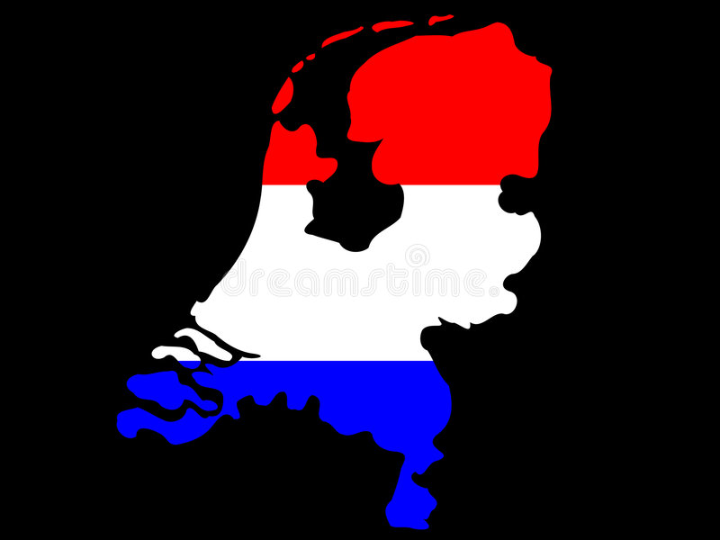 Kaart van Nederland stock illustratie