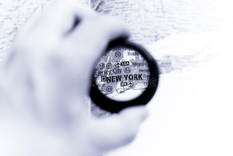 Kaart van New York stock foto's