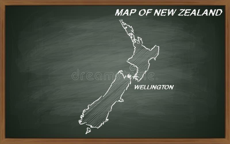 Kaart van Nieuw Zeeland