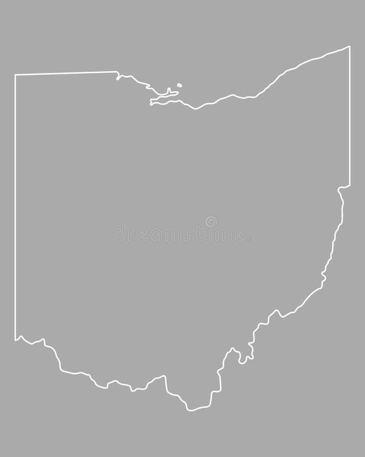 Kaart van Ohio stock illustratie