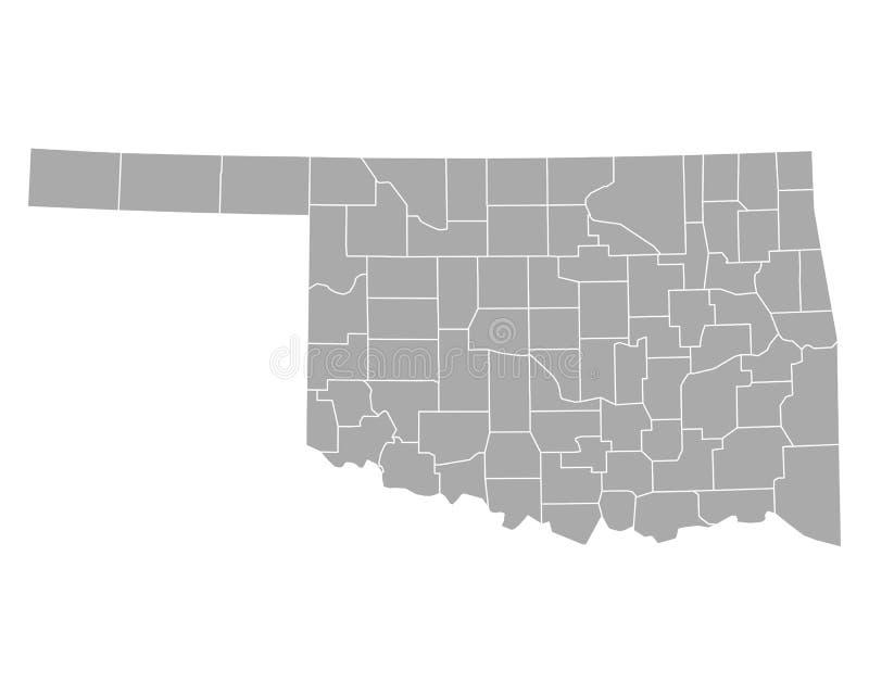 Kaart van Oklahoma vector illustratie