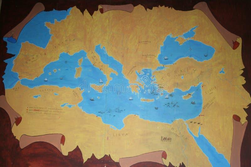 Kaart Van Oud Anatolië Stock Foto