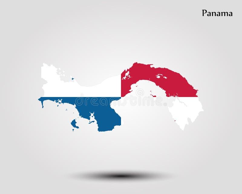 Kaart van Panama royalty-vrije illustratie