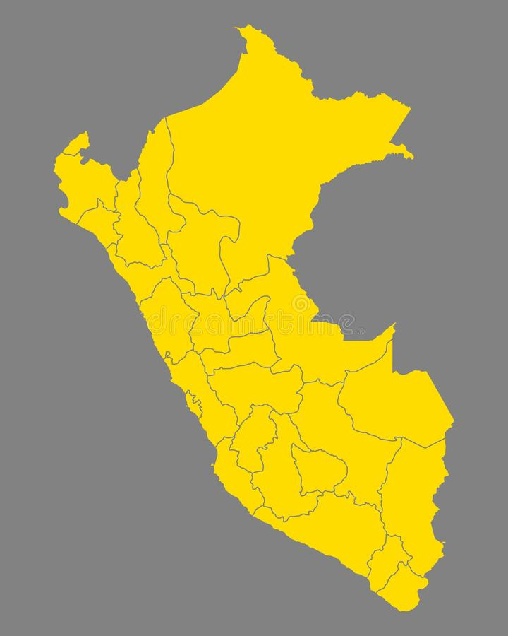 Kaart van Peru stock illustratie