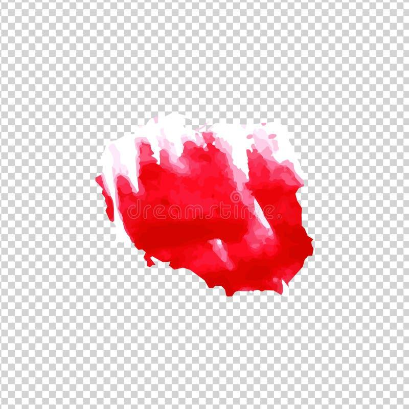 Kaart van Polen met de textuur van de waterkleur van rood en wit stock illustratie
