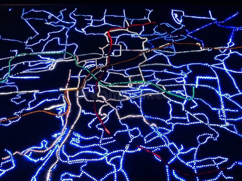 Kaart van Praag stock foto