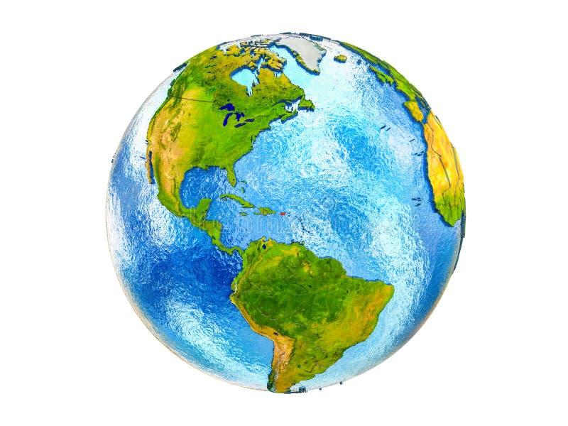 Kaart van Puerto Rico op 3D geïsoleerde Aarde stock foto