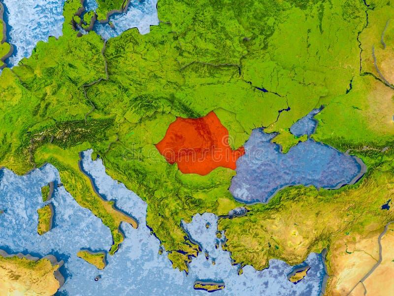 Kaart van Roemenië royalty-vrije illustratie