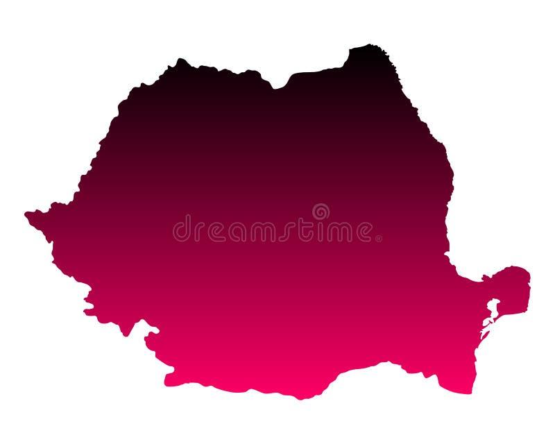 Kaart van Roemenië vector illustratie