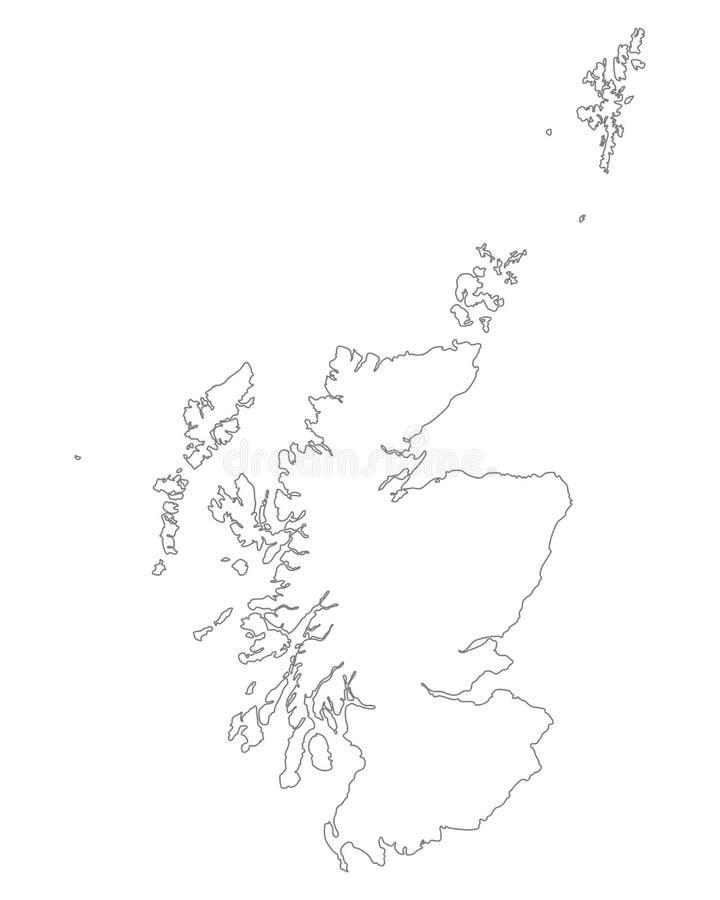 Kaart van Schotland vector illustratie