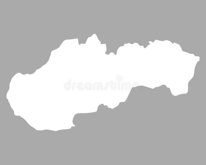 Kaart van Slowakije vector illustratie
