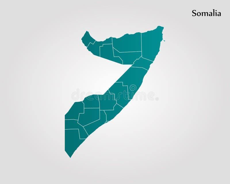 Kaart van Somalië stock illustratie