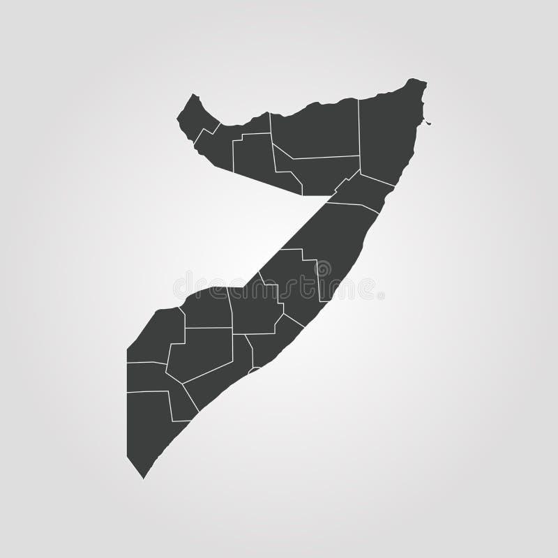 Kaart van Somalië royalty-vrije illustratie