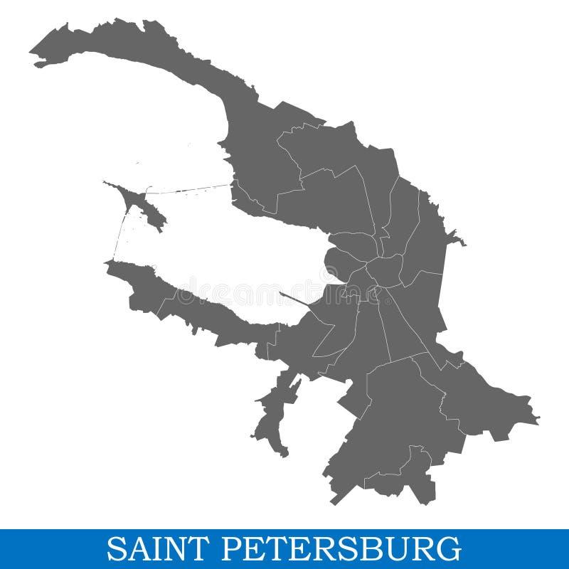 kaart van stad van Rusland stock illustratie