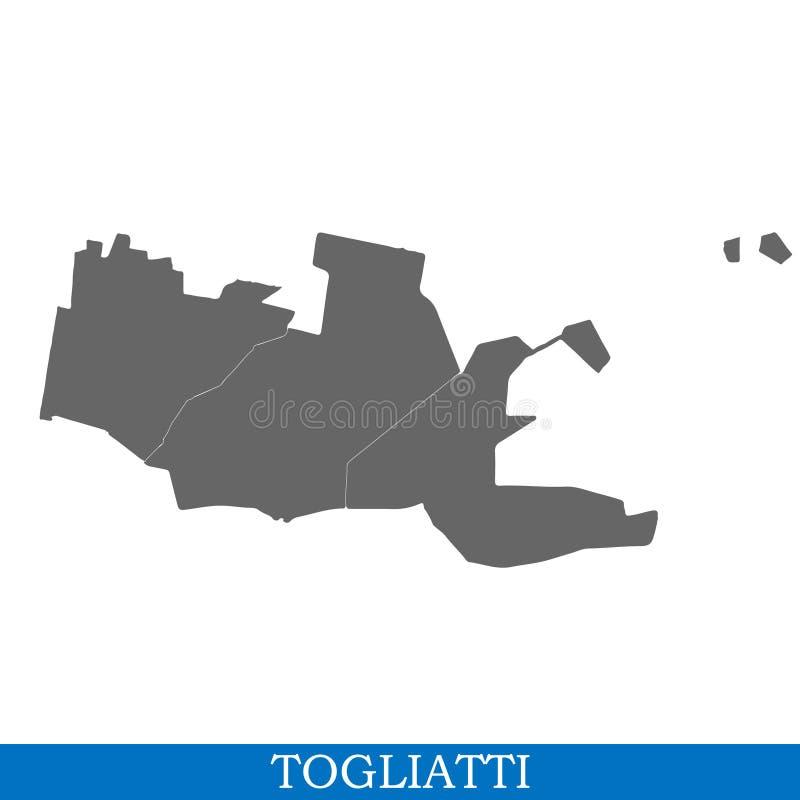 kaart van stad van Rusland royalty-vrije illustratie
