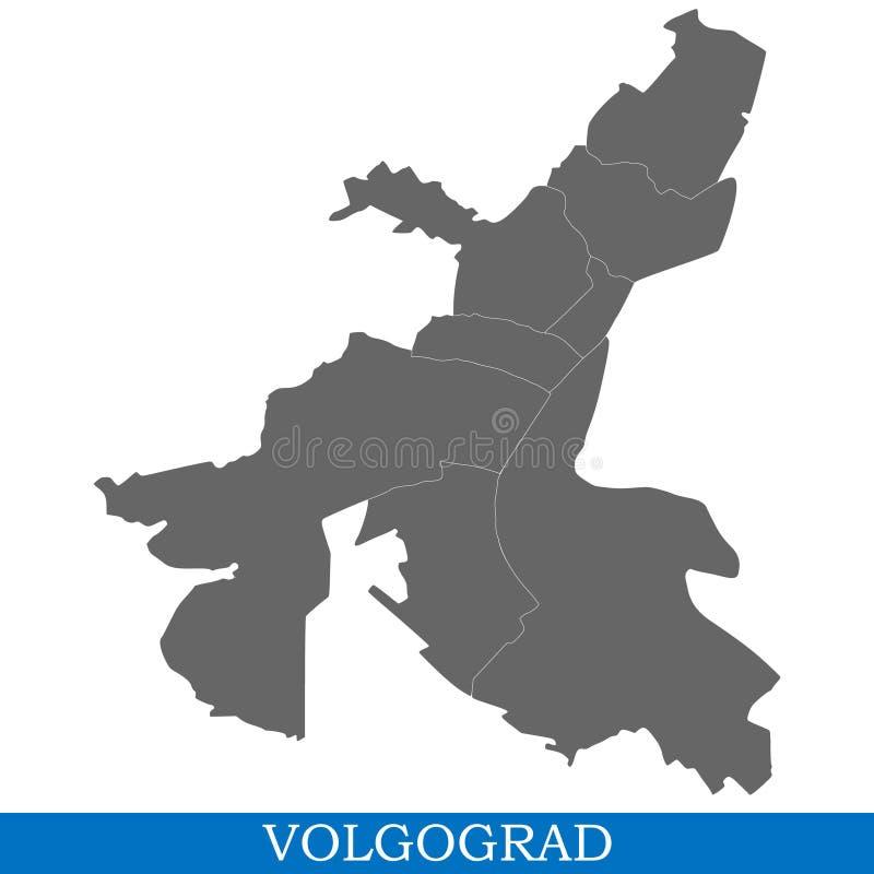 kaart van stad van Rusland vector illustratie