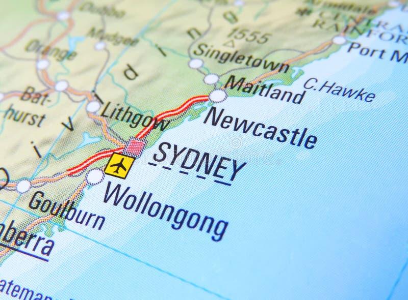 Kaart van Sydney royalty-vrije stock afbeeldingen
