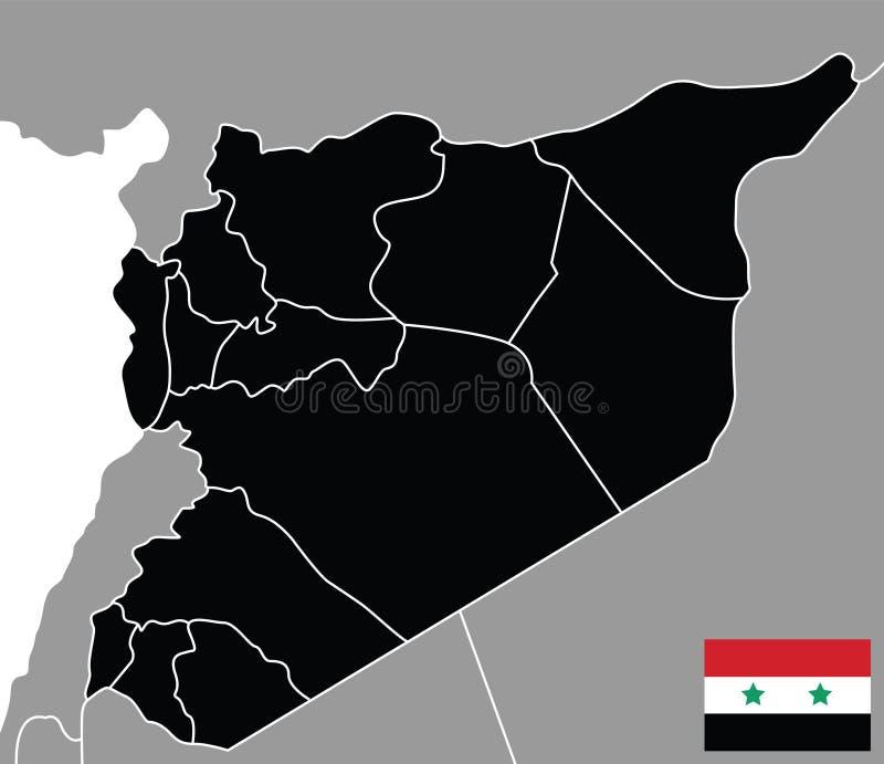Kaart van Syrië vector illustratie