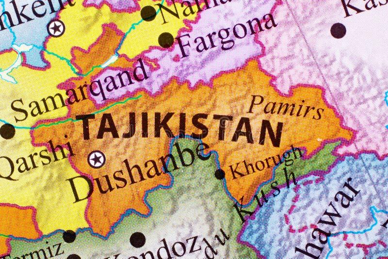 Kaart van Tadzjikistan royalty-vrije stock afbeeldingen