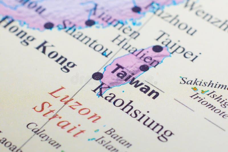 Kaart van Taiwan stock foto's