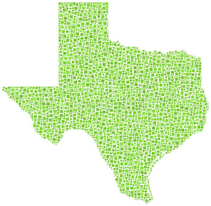 Kaart van Texas royalty-vrije illustratie
