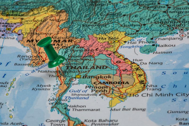 Kaart van Thailand royalty-vrije stock fotografie