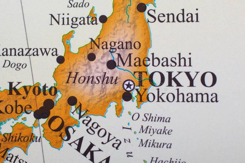 Kaart van Tokyo Japan stock foto's