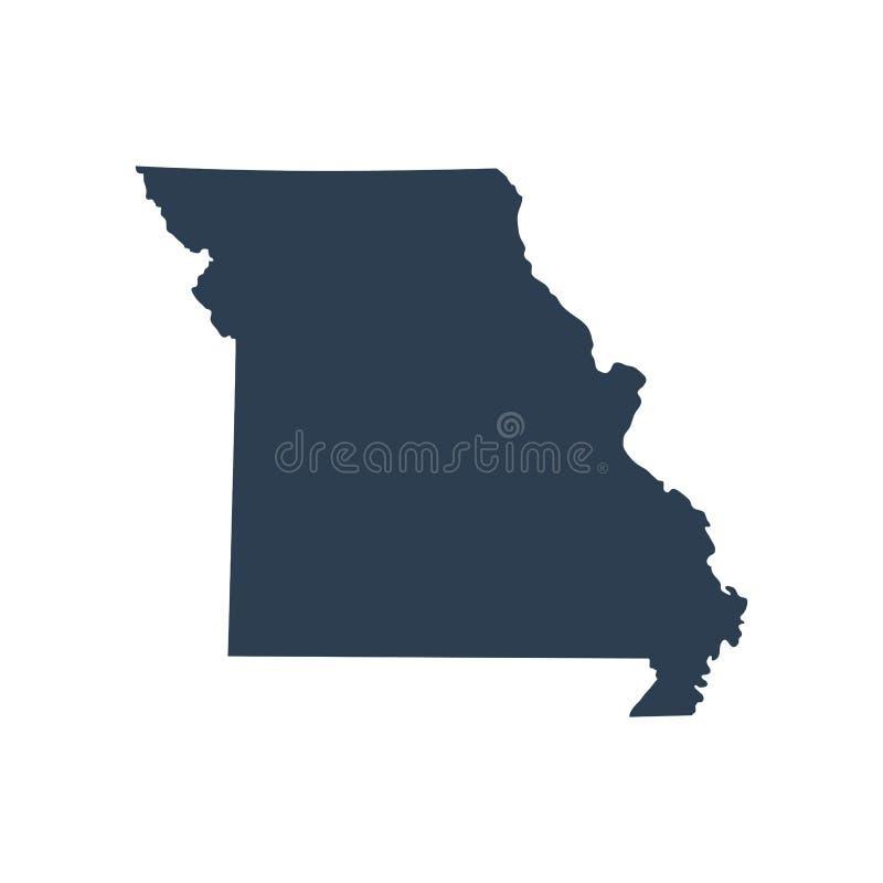 Kaart van U S de vectorillustratie van Missouri van de staat royalty-vrije illustratie