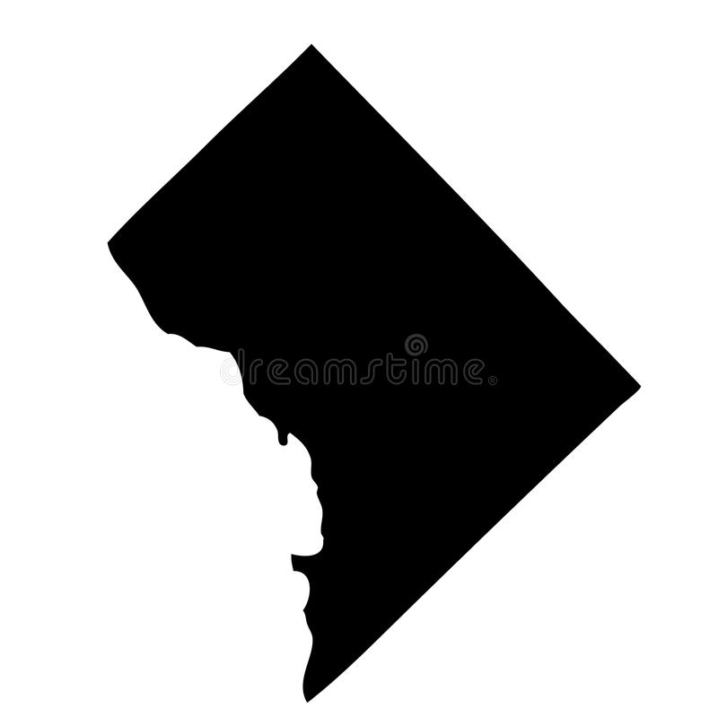 Kaart van U S District Colombia vector illustratie
