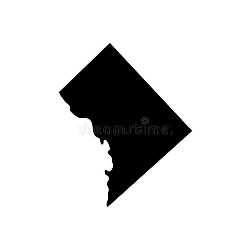 Kaart van U S District van de vector van Colombia royalty-vrije illustratie