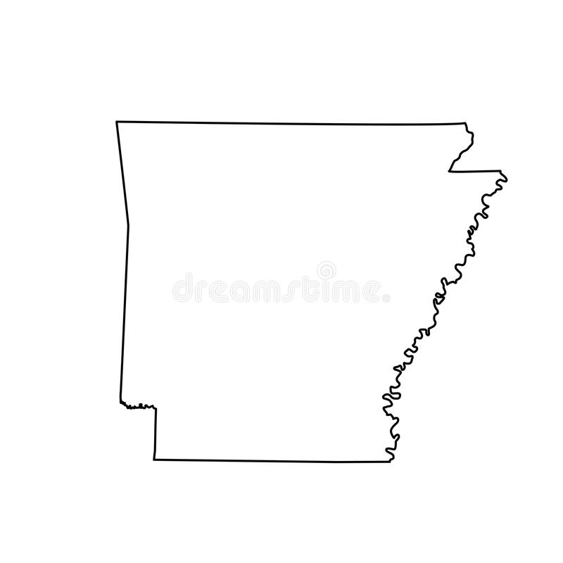 Kaart van U S staat Arkansas vector illustratie