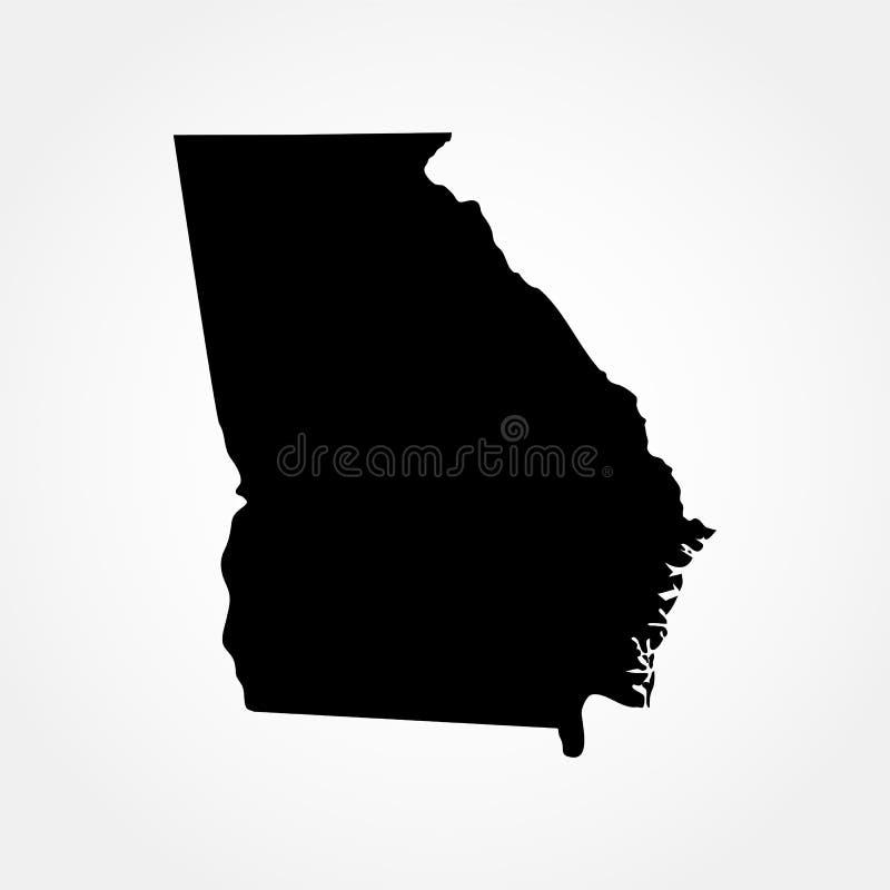 Kaart van U S Staat van Georgië vector illustratie