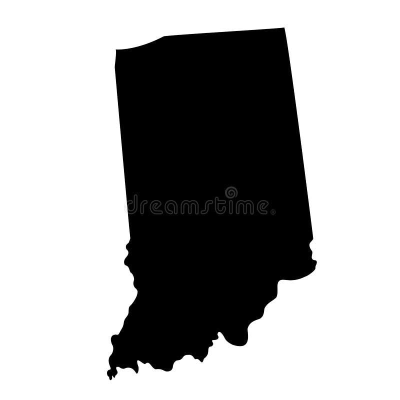 Kaart van U S staat Indiana vector illustratie