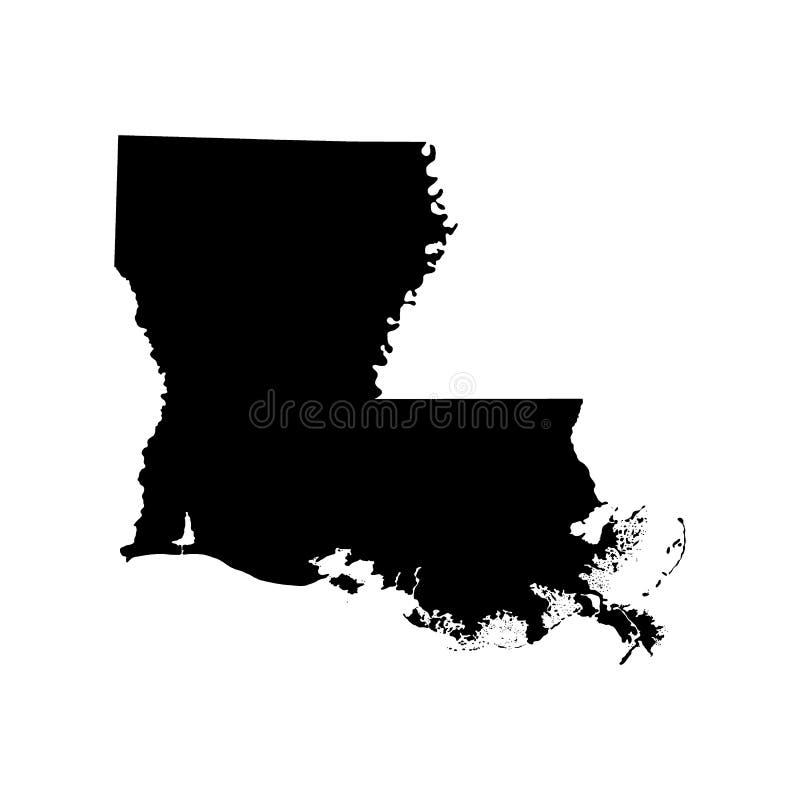 Kaart van U S Staat van Louisiane vector illustratie