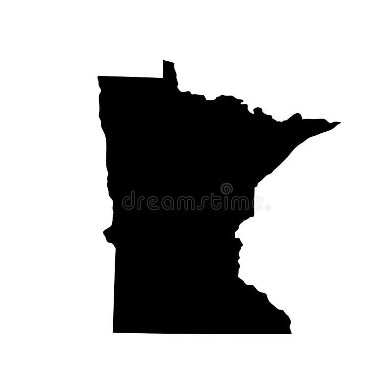 Kaart van U S staat Minnesota royalty-vrije illustratie