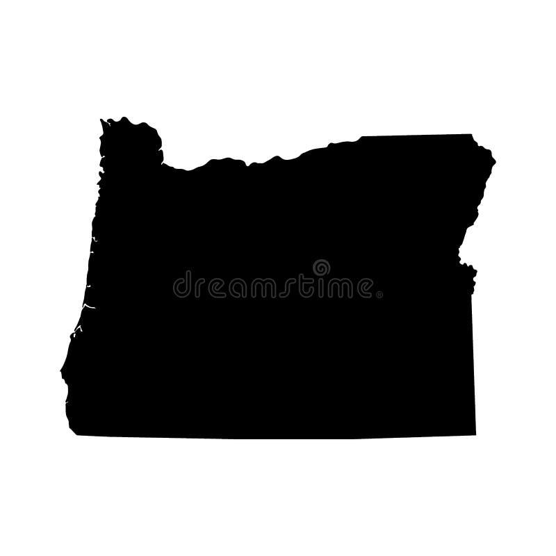 Kaart van U S Staat van Oregon stock illustratie
