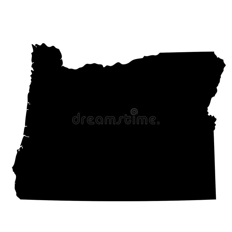 Kaart van U S staat Oregon vector illustratie