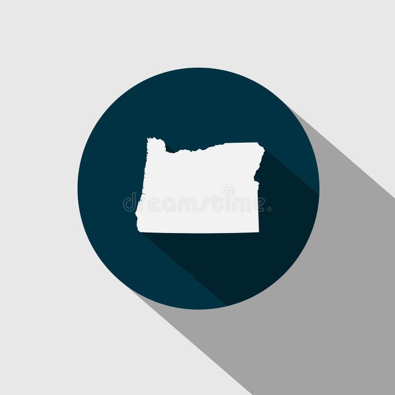 Kaart van U S staat Oregon stock illustratie